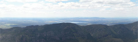 Halls Gap from The Pinnacle, The Grampians, Victoria