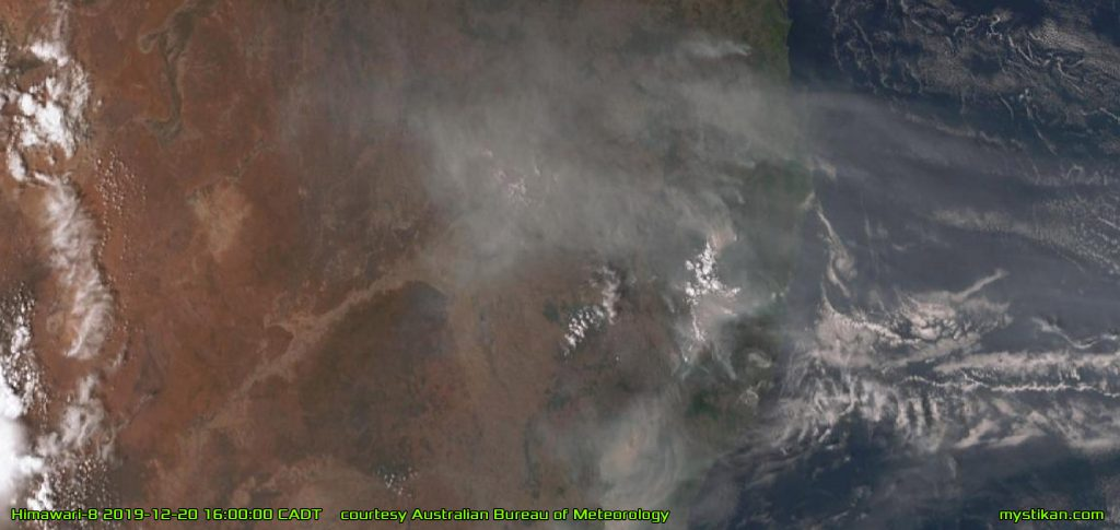 FURTHER NORTH The fire front extends up into Queensland, passing Brisbane and reaching almost to Townsville